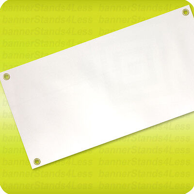 2x4' Blank Vinyl Banner Sign, 13oz White with Grommets