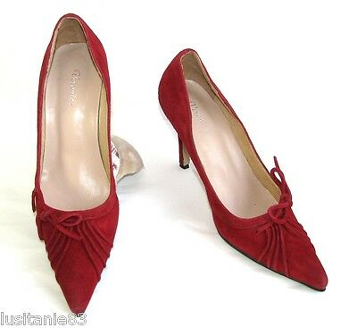Veronica Court Shoes Glamor Heel 8.5 Cm Leather Suede Red 36 Excellent Condition