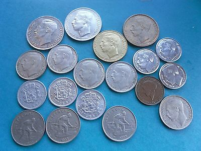 Luxembourg, Collection of 19 interesting Coins earliest 1930.