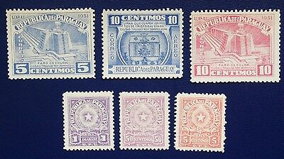 PARAGUAY- 1940-1948 MH Stamps