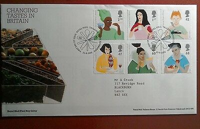 2005 Superb Royal Mail Fdc - Changing Tastes In Britain - Edinburgh