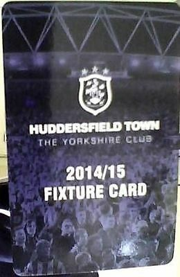 Huddersfield Town Fold Out Fixture Card 2014-2015 Excellent Condition