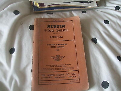 Austin 5 Ton Diesel (Series II ) Parts List