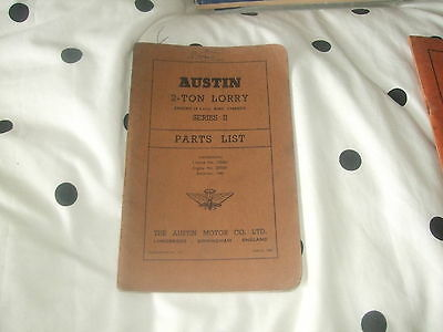 Austin 2 Ton Lorry (4-Litre Engine & Chassis) Parts List  Series II