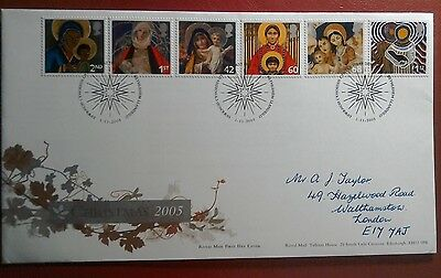 2005 Handwritten Royal Mail Fdc - Christmas 2005 Stamps - Bethlehem Llandeilo