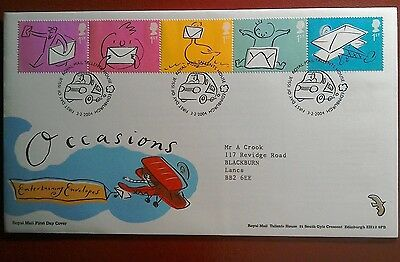 2004 Superb Royal Mail Fdc - Occasions Stamps - Entertaining Envs. - Edinburgh