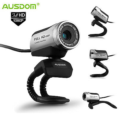 USB 2.0 HD 1080P Webcam Camera 12 Megapixels with Microphone for PC Computer UK