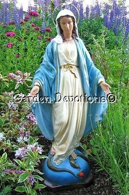 """Stunning 24"""" LADY OF GRACE MARY STATUE Plaster/Chalkware **IMPORTED** ~ NEW!"""
