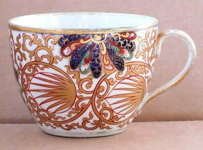 C19Th Coalport Hand Painted Cup In A Japan Pattern