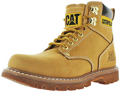 Caterpillar CAT Second Shift Steel Toe Men's Work Boots Leather Size 7
