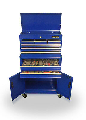 414 Us Pro Tools Affordable Tool Chest Box Roller Cabinet With Tools In Trays !