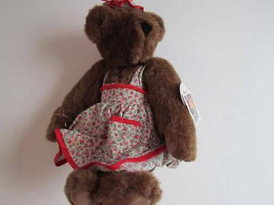 """The Vermont Teddy Bear Co Jointed Bear 17"""" Grandmother Hat Clothes Has Tags!"""