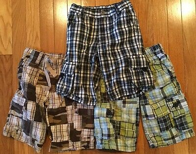 LOT OF 3 PAIRS Of BOYS SIZE 5 ADJUSTABLE ELASTIC WAIST CARGO SHORTS