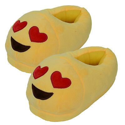 Hot Sale Emoji Cute Unisex Slippers Warm Winter Home Shoes Indoor Plush Slippers