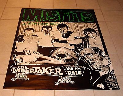 "MISFITS THE UNDERTAKER & HIS PALS POSTER 36.5"" x 55"" DANZIG SAMHAIN VINTAGE"