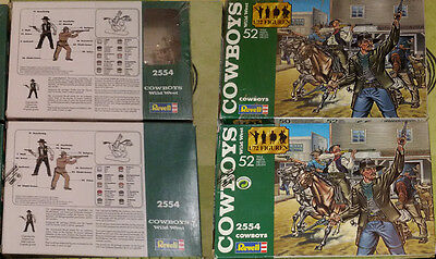 REVELL 1/72 - Cow-boys AMERICAN HISTORY - VINTAGE COMPLETE 1 BOX 2554 LOOSE