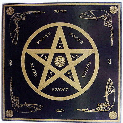 HANDMADE PENTAGRAM WITCHBOARD + PLANCHETTE 400mm Wicca Pagan Witch Goth OUIJA