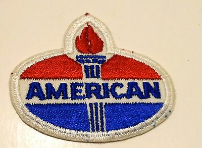 "American Gasoline Patch Embroidered Oil 3-3/16"" inches  Vintage Torch"