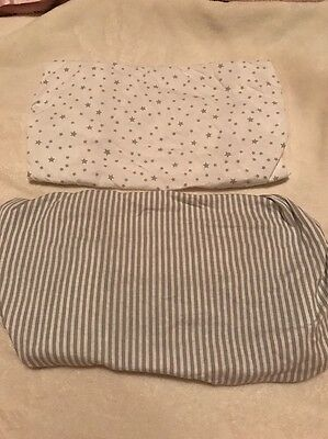 Grey Fitted Crib Sheets
