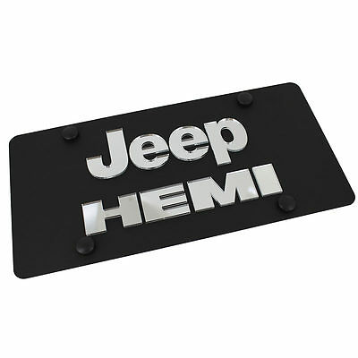 Jeep Hemi Name Badge Name On Carbon Stainless Steel License Plate