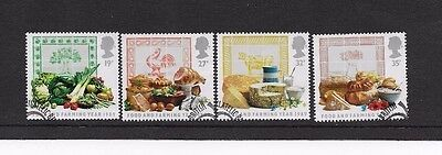 1989 FOOD & FARMING YR. 4 STAMPS from f.d.c. FINE USED, SCOTT # 1248 - 1251