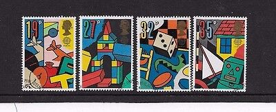 1989 EUROPA/TOYS 4 STAMPS from f.d.c. FINE USED, SCOTT # 1256 - 1259