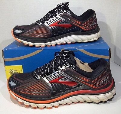 Brooks Glycerin 13 Men's Size 10.5 Black Red Silver Running Shoes ZF-1058
