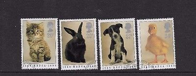 1990 ANIMALS   NICE SET of 4 USED  STAMPS FROM F..D.C.  SCOTT # 1300 - 1303