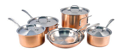 New. Calphalon Tri-Ply stainless steel Copper 10-Piece Cookware Set