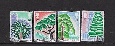 1990 KEW GARDENS  SET of 4 USED  STAMPS FROM F..D.C. SCOTT # 1322 - 1325