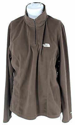 Women's THE NORTH FACE Brown Fleece Jacket Size XL