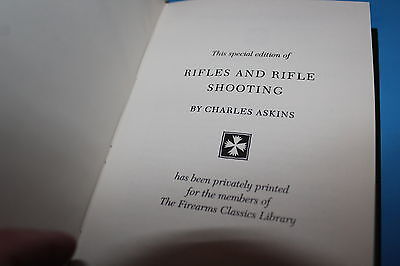 Leather Bound Book:   Rifles and Rifle Shooting