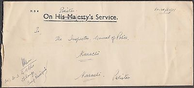 Pakistan Overprint / H.s. On India Lovely Official Cover From Rawalpindi Camp