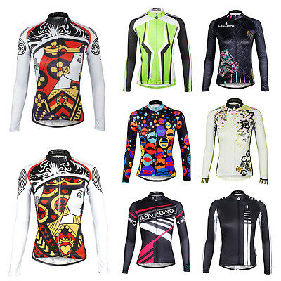 New Women Cycling Jersey Comfortable Bike Bicycle Outdoor Top Jersey Long Sleeve