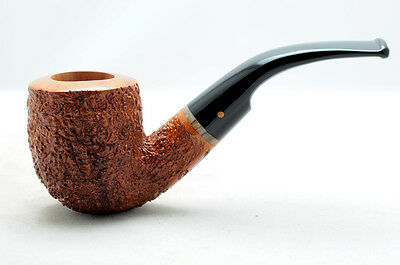 Brand new briar pipe PARONELLI bent handmade rusticated