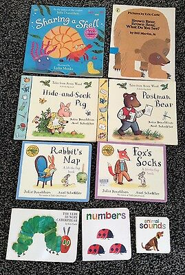 Bundle of children's books by Julia Donaldson and Eric Carle in VGC
