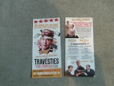 TRAVESTIES Two Theatre Flyers  NEW Tom Hollander Tom Stoppard 2017 & Reviews