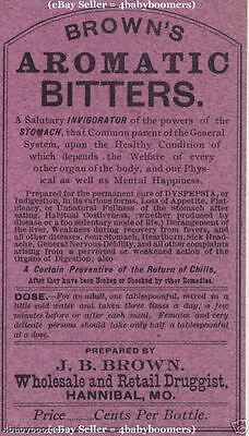 OLD Authentic AROMATIC BITTERS Pharmacy Drugstore ANTIQUE Medicine Bottle Label