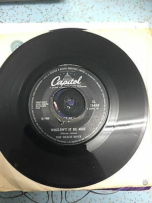 the beach boys wouldnt it be nice capitol 45rpm vg condition