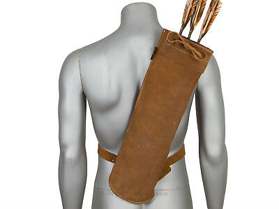 Back Quiver Quiver Leather traditional for Arrow Archery archery