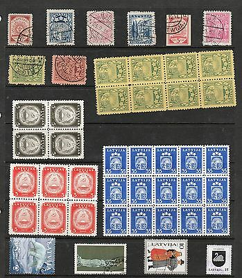 LATVIA Stamp Collection MINT Icclud BLOCKS & USED Ref:QE401