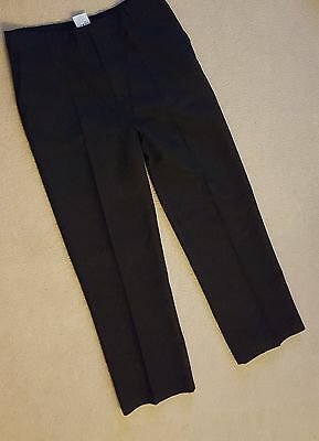 """""""george"""" Boys Black School Trousers - Age 11-12 - Exc Cond"""