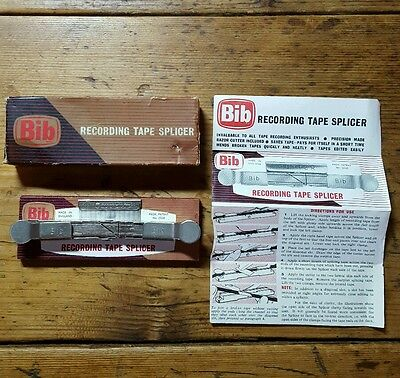Bib Recording Tape Splicer Vintage Boxed Excellent Condition