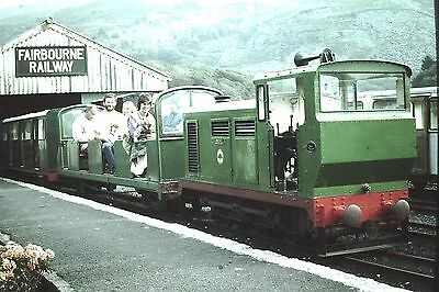 Original Colour slide. Fairbourne Railway 30/9/83. Sold with copyright