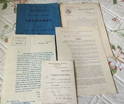 Ephemera Collection Early 1900's, Vagrants, Nomads, Gypsies, Very Interesting.