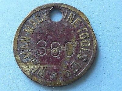 Great Britain Medalet, Check, Newman Machine Tools Number 360 25Mm  (06