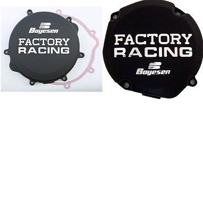 Boyesen Clutch & Ignition Cover Black Suzuki RM250 RM 250 96-08 CC-22B SC-23B
