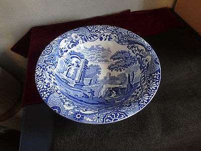 "Spode/copeland English Fine China  ""italian Blue"" Gorgeous Round Dish"