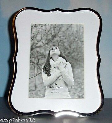 Kate Spade Lenox Crown Point Picture Frame 5x7 Silverplate Curved