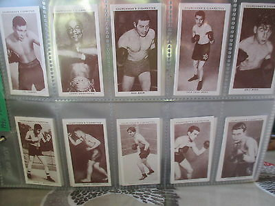 Victoria Gallery**boxing Personalities(Churchman) **set Of 50 Cards